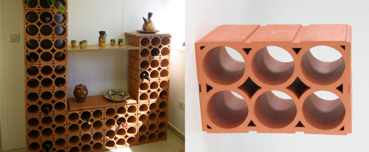 Botellero modular 6 huecos de la escandella jardin y - Botelleros de diseno ...