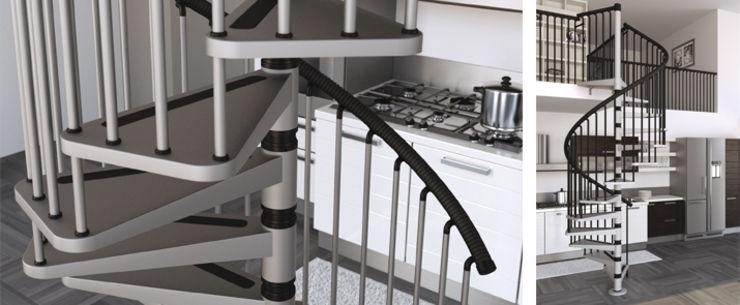 escalera de caracol gamia metal de misterstep